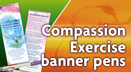 Compassion Exercise Banner Pens