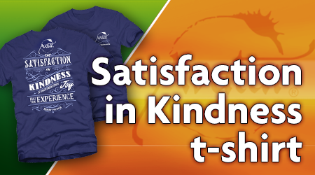 Satisfaction in Kindness t-shirt